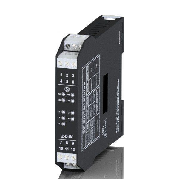 Z-D-IN służy do łączenia 5 sygnałów cyfrowych ze wszystkimi systemami sterowania