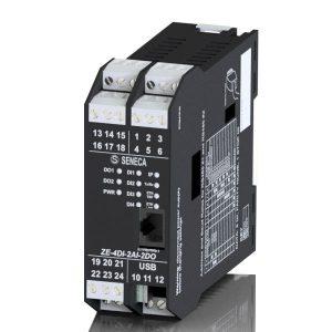 ZE-4DI-2AI-2DO Moduł I/O z 4