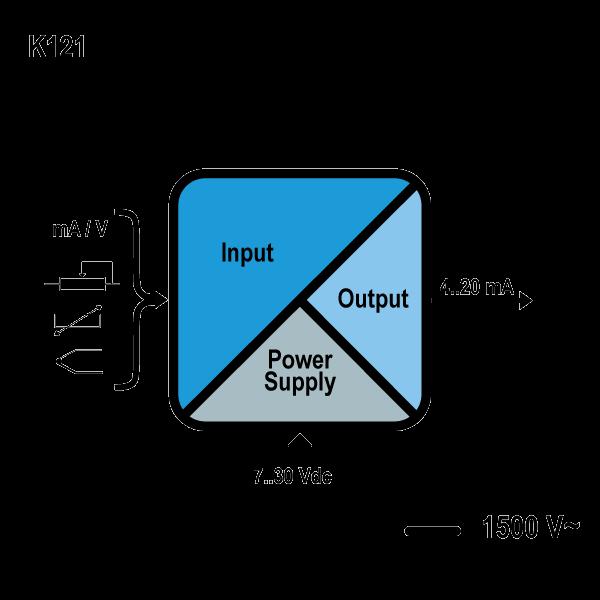 k121 schemat Konwerter / separator uniwersalny