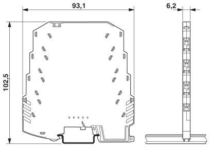 k400cl dimensioni Ochrona przeciwprzepięciowa
