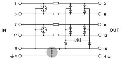 s400net a schemat Ochrona przeciwprzepięciowa dla Ethernetu